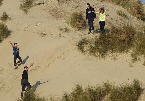 Oriëntation dans les dunes